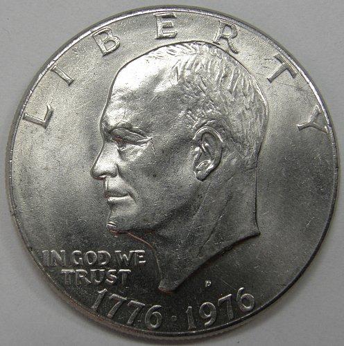 1976 D Eisenhower Dollars: Type 2 #4