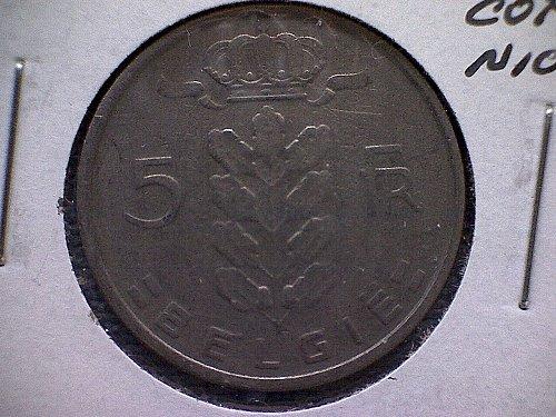1950 BELGIUM FIVE FRANCS