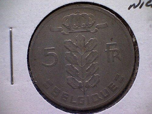 1962 BELGIUM FIVE FRANCS