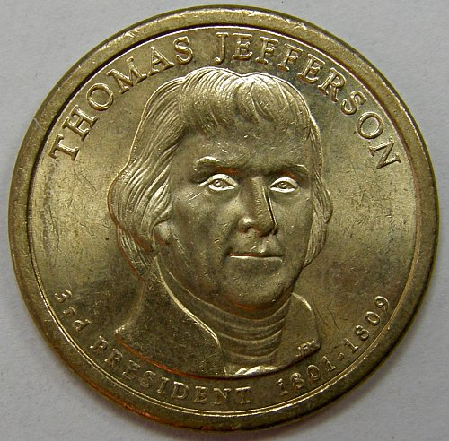 2007 D Presidential Dollars: Thomas Jefferson #2