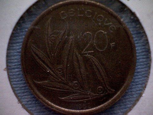 1982 BELGIUM TWENTY FRANCS