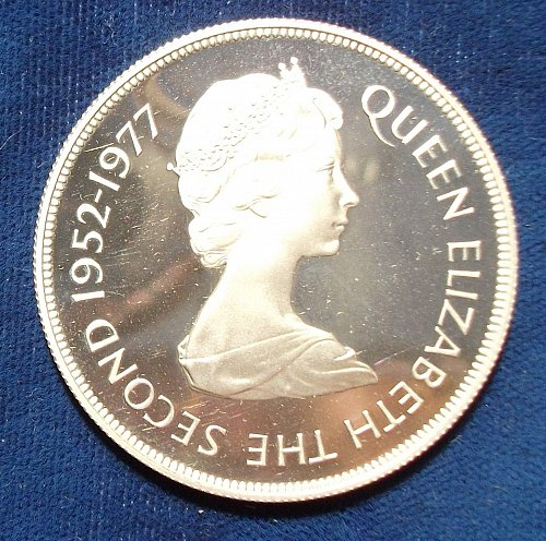 (1977) Jersey 25 Pence Silver Proof