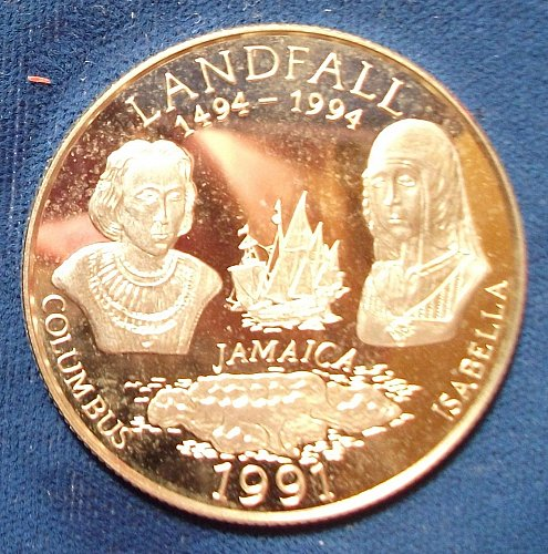 1991 Jamaica 25 Dollars Silver Proof