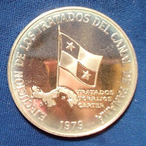 1979 Panama 5 Balboas Silver Proof