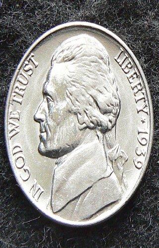 1939 P Jefferson Nickel FS