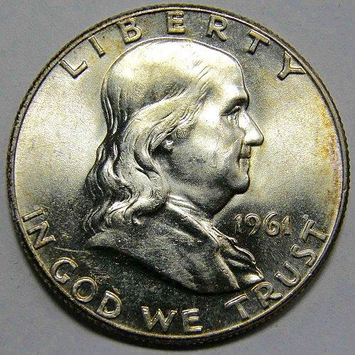 1961 P Franklin Half Dollar #2