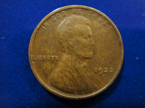 1922-D Lincoln Cent Very Fine-20 Nice Obverse Defintion . . .