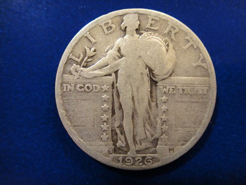 1926-S Standing Liberty Quarter Very Good-8 Nice Coin For Grade!