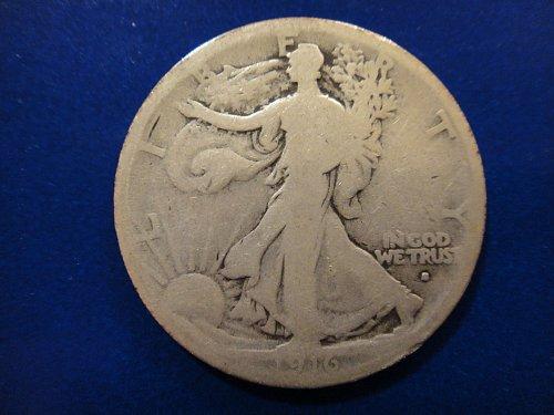 1916-S Walking Liberty Half Dollar Good-4 Nice Even Wear And Full Rims!
