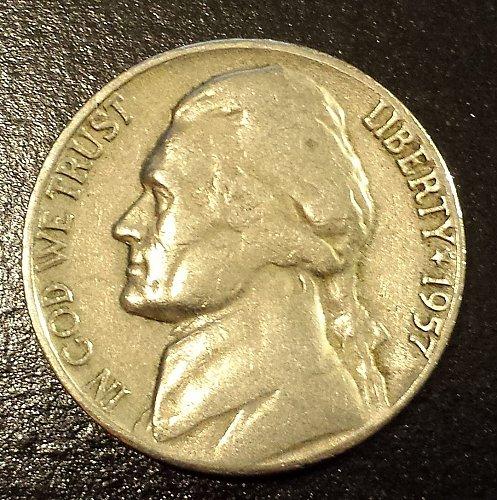 1957-D Jefferson Nickel (6212)