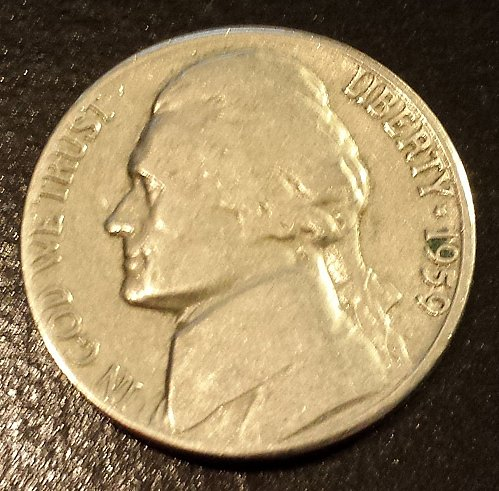 1959-D Jefferson Nickel (6214)