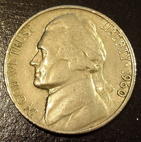 1960-D Jefferson Nickel (6216)