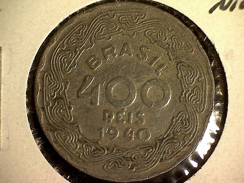 1940 BRAZIL FOUR HUNDRED REIS