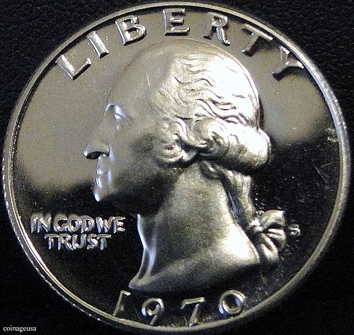 1970-S Clad Proof Washington Quarter