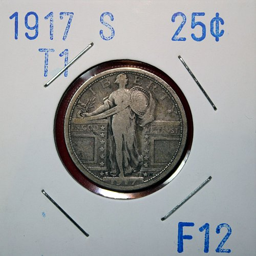 1917 T1 S STANDING LIBERTY QUARTER