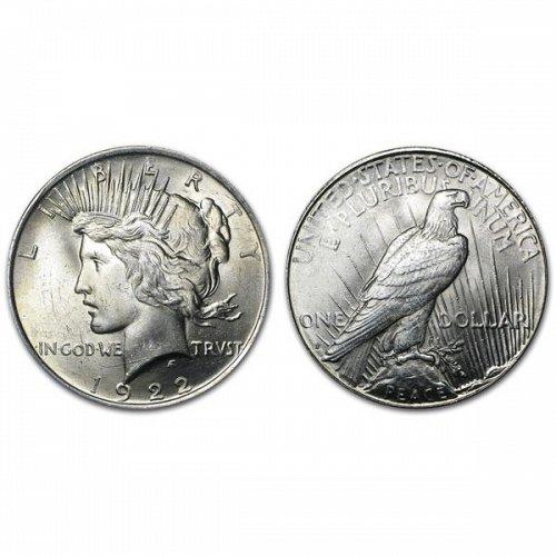 1922 S Peace Silver Dollar - BU