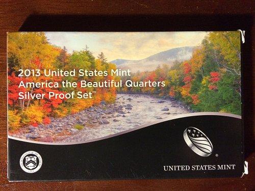 2013 US Mint America the Beautiful Quarters Silver Proof Set