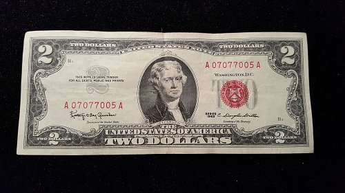1963 $2 Red Seal  05A