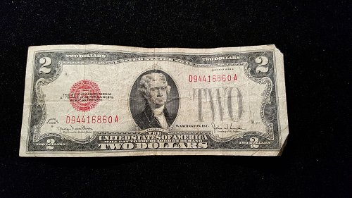 1928 G $2 Red Seal  60A