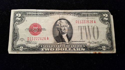 1928 D $2 Red Seal  26A