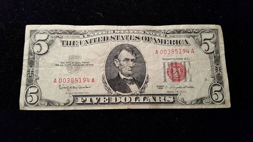 1963 $5 Red Seal 94A