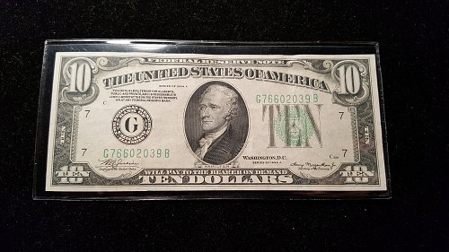 1934 A $10 Chicago Federal Reserve Note 39B