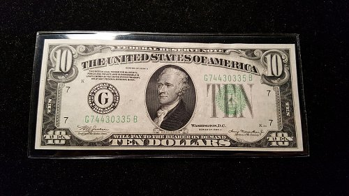 1934 A $10 Chicago Federal Reserve Note 35B