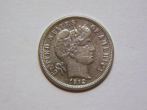 1912-P Silver Barber Dime