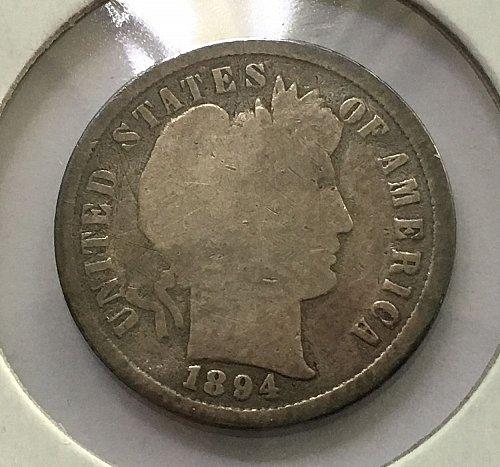 1894 P Barber Dime