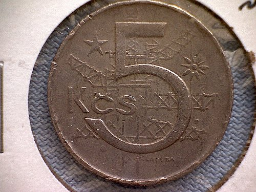 1969 CZECH REPUBLIC FIVE KORON