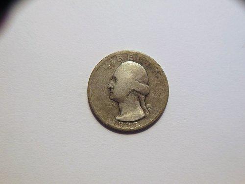 1932-S Silver Washington Quarter