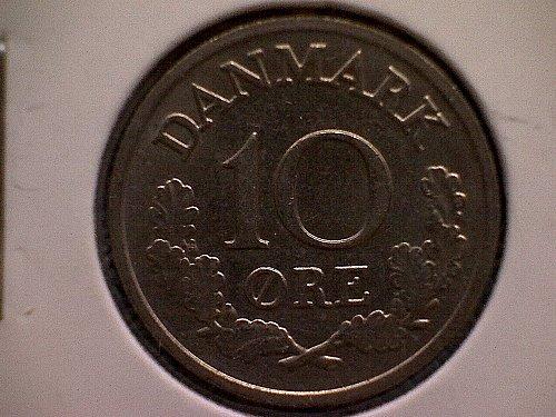 1967 DENMARK TEN ORE