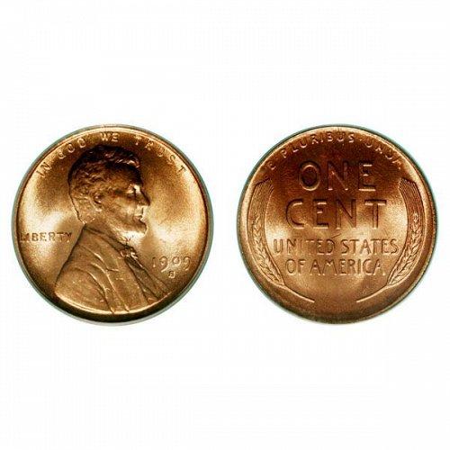 1909 S Lincoln Wheat Cent - Gem BU
