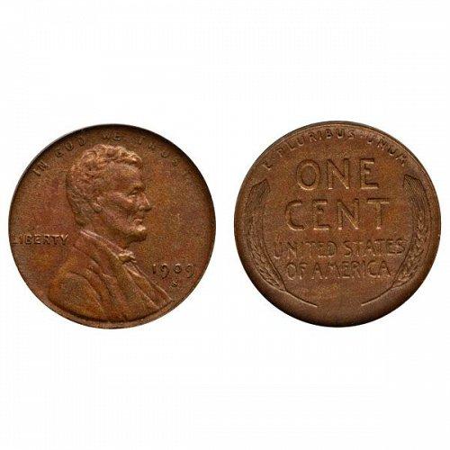1909 S Lincoln Wheat Cent - AU
