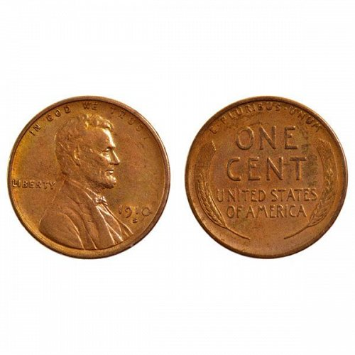 1910 S Lincoln Wheat Cent - AU