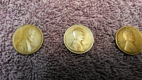 1909 VDB 1909 and 1914 Lincoln Cent F to VF Three (3) Coins
