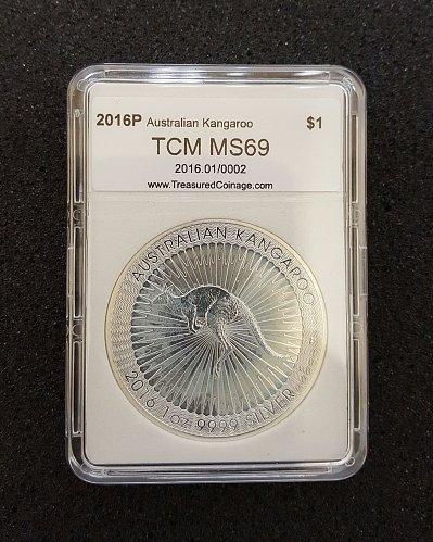 2016-P Australia 1 oz $1 Silver Kangaroo Australian Mint Kangaroo