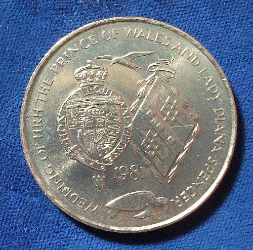 1981 Ascension 25 Pence UNC