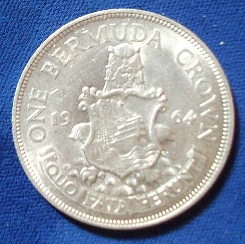 1964 Bermuda Crown UNC
