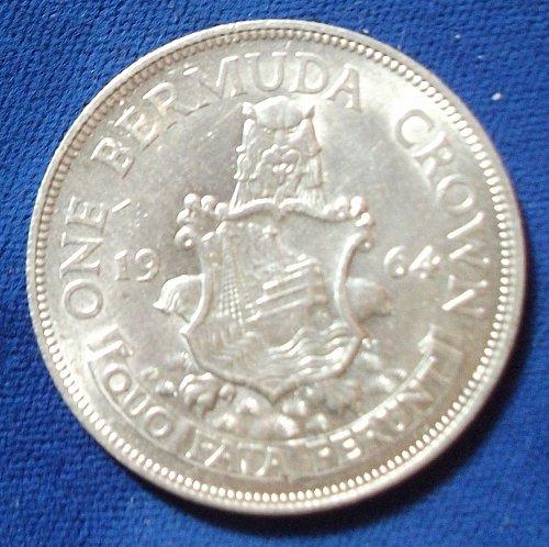 1964 Bermuda Crown UNC