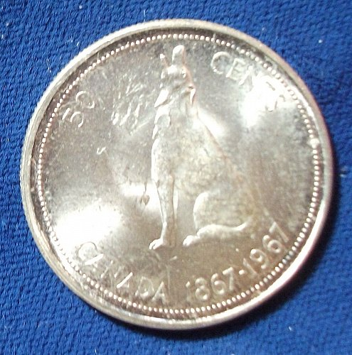 1967 Canada 50 Cents UNC