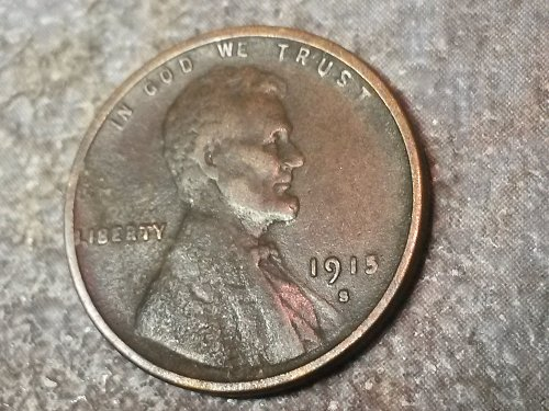 Great 1915 S Lincoln Cent XF as shown in photos