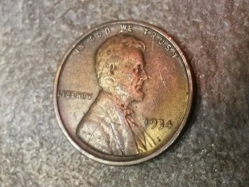 1934 P Lincoln Cent XF condition