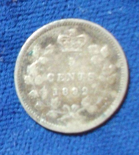 1892 Canada Dime VG
