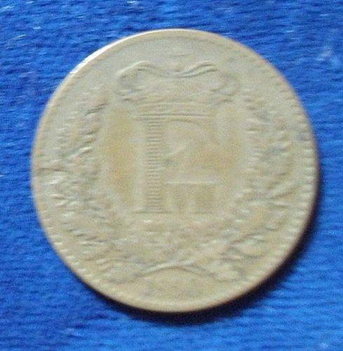 1860 Denmark Skilling F-VF