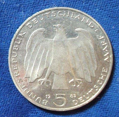 1983J Germany/Federal Republic 5 Marks AU