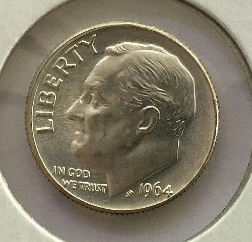 1964 D Roosevelt Dime BU