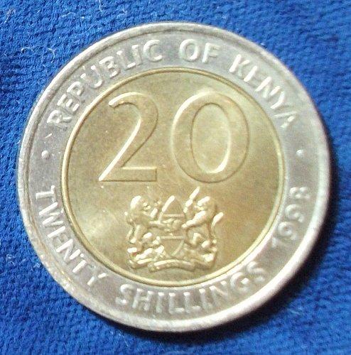 1998 Kenya 20 Shillings AU