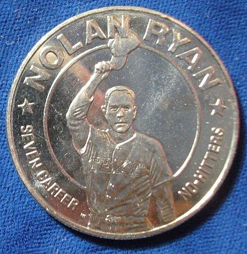 1993 Liberia Dollar BU Nolan Ryan No Hitter