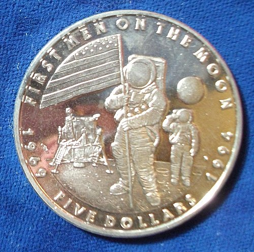 1994 Marshall Islands 5 Dollars BU, Prooflike